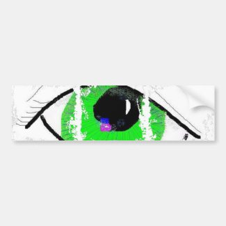 Great Green eye Bumper Sticker