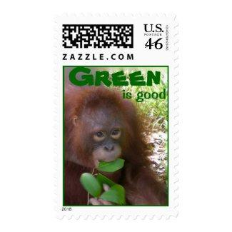 Great Green Fan zazzle_stamp