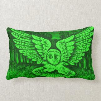 Great Green Owl Throw Pillow