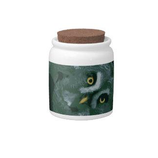 Great Grey Owl Candy Jar