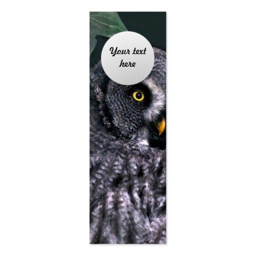 Great Grey Owl Custom Bookmark Business Card Templates
