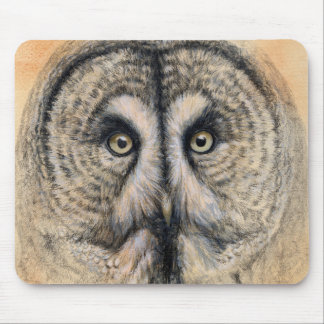 Great Grey Owl design by Schukina g041 Mouse Pad