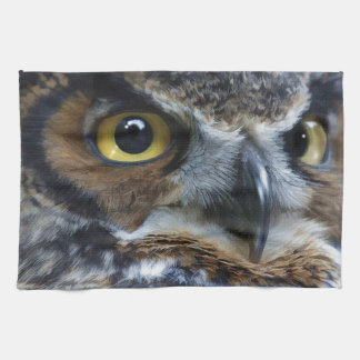Great Grey Owl Eyes Wildlife Tea-Towel Hand Towel