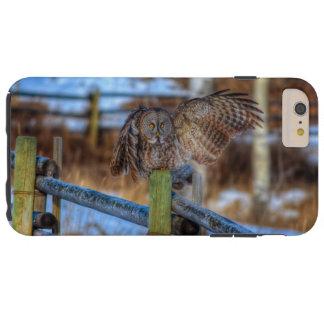 Great Grey Owl & Fence Wildlife Photo Portrait Tough iPhone 6 Plus Case
