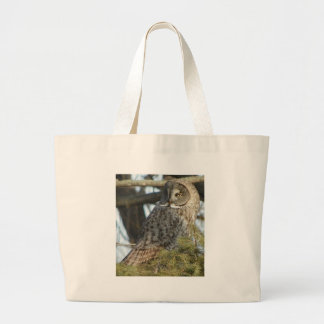 Great Grey Owl Photo Gift Large Tote Bag