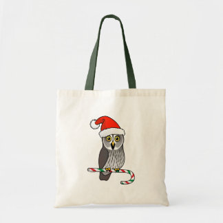 Great Grey Owl Santa Tote Bag