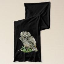 Great grey owl scarf