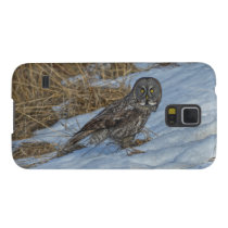 Great Grey Owl & Snow Wildlife Photo Portrait Galaxy S5 Cover