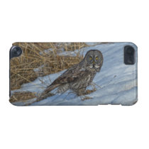 Great Grey Owl & Snow Wildlife Photo Portrait iPod Touch 5G Cover