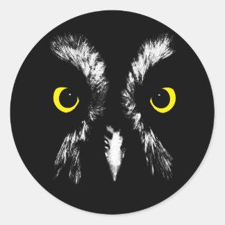 Great grey owl (strix nebulosa) stickers