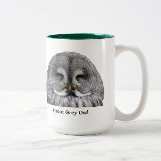 Great Grey Owl Two-Tone Coffee Mug
