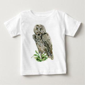 Great Grey Owl watercolor Baby T-Shirt
