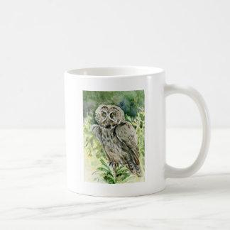 Great Grey Owl watercolor Coffee Mug