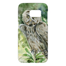 Great Grey Owl watercolor Samsung Galaxy S7 Case