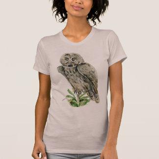 Great Grey Owl watercolor T-Shirt