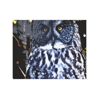 Great Grey Owl wrap around canvas