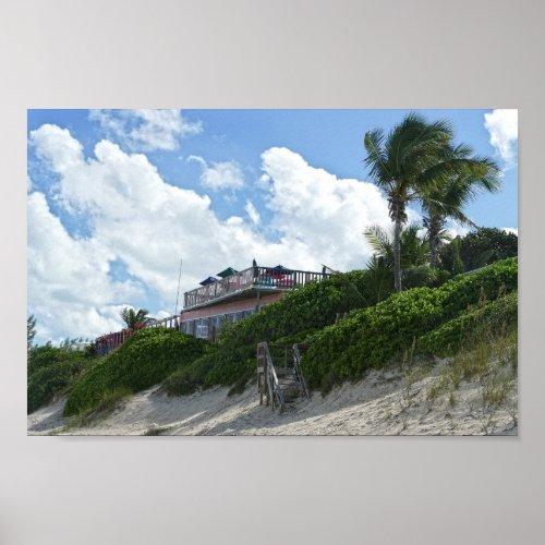 Great Guana Cay Beach Bar, Bahamas Poster