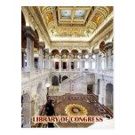 Great Hall, Library of Congress, Washington, DC Postcard