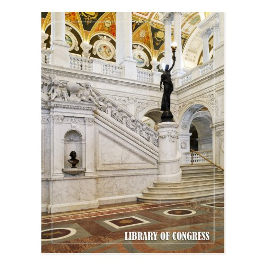 Great Hall, Library of Congress, Washington, DC Postcard