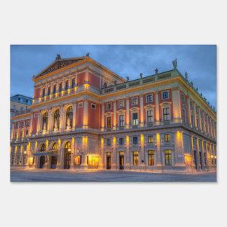 Great Hall of Wiener Musikverein, Vienna, Austria Sign