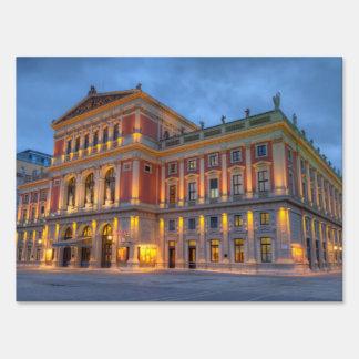 Great Hall of Wiener Musikverein, Vienna, Austria Yard Sign