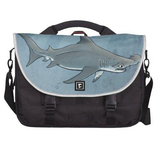 Great hammerhead shark laptop messenger bag