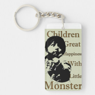 Great happiness with little monster Single-Sided rectangular acrylic keychain