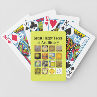 Great Happy Faces In Art History Bicycle Playing Cards