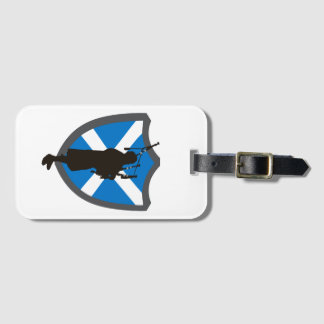 Great Highland Bagpipe Luggage Tag Design