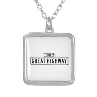 Great Highway, San Francisco Street Sign Necklaces