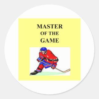 great hockey player design round sticker