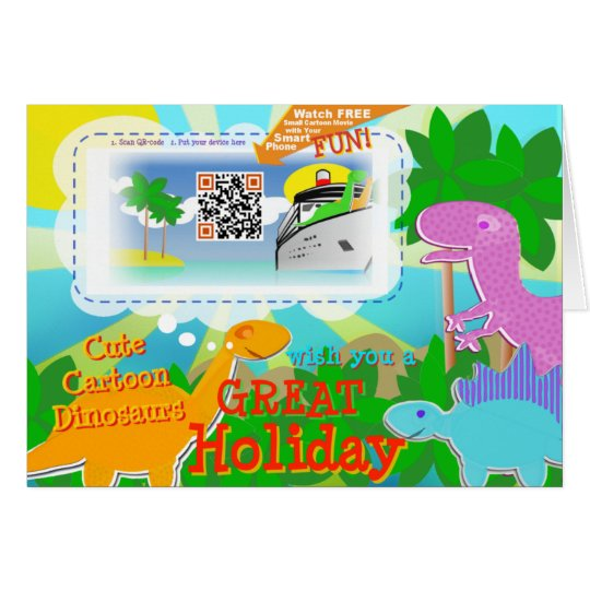 Great Holiday Dinosaurs & QR Code to Free Movie Card