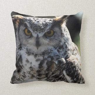 Great Horn Owl 5 Throw Pillow