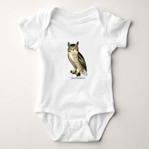 Great Horn Owl Baby Bodysuit