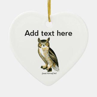 Great Horn Owl Ceramic Ornament