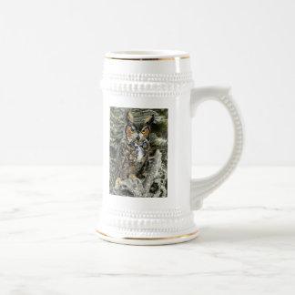 Great Horn Owl Stein Mugs