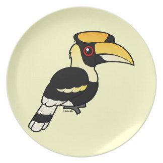 Great Hornbill Dinner Plates