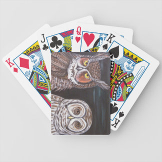Great Horned Barred Owls Bicycle Poker Cards