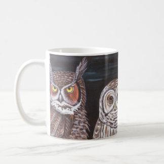 Great Horned & Barred Owls Coffee Mug