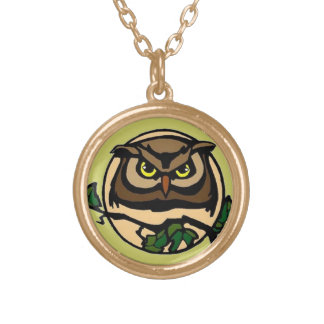 Great Horned Moon Gold Plated Necklace
