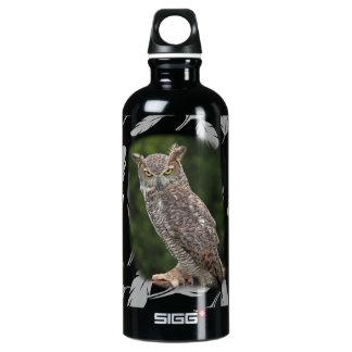 Great Horned Owl Aluminum Water Bottle