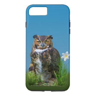 Great Horned Owl and Flower iPhone 7 Plus Case