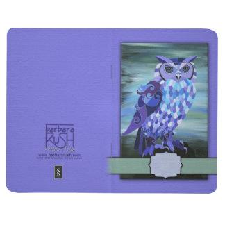 Great Horned Owl Art- Barbara Rush -Pocket Journal