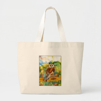 Great Horned Owl Jumbo Tote Bag