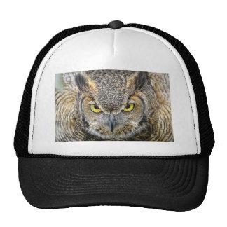 Great Horned Owl Ball Cap Trucker Hat