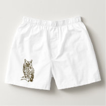 Great Horned Owl Boxers
