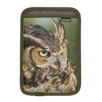 Great Horned Owl, Bubo virginianus, Captive iPad Mini Sleeve