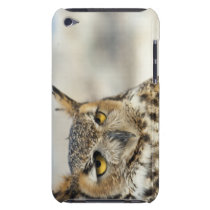 Great Horned Owl (Bubo virginianus), captive iPod Touch Case