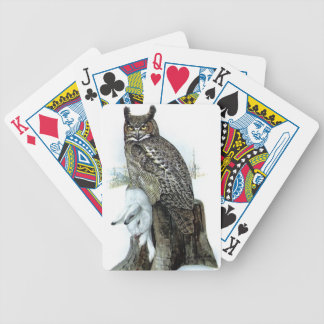Great Horned Owl - Bubo virginianus Playing Cards