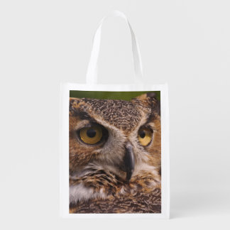 Great Horned Owl, Bubo virginianus Reusable Grocery Bag